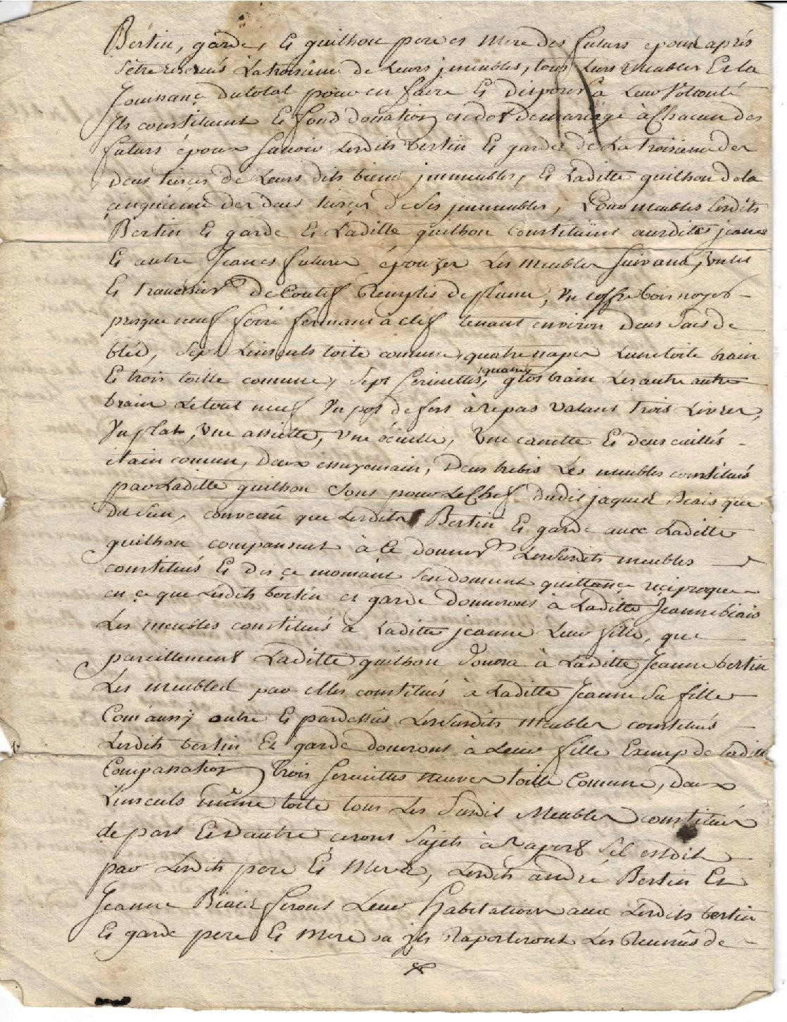 Parchment attesting to the origins of Vignobles Bertin (2)