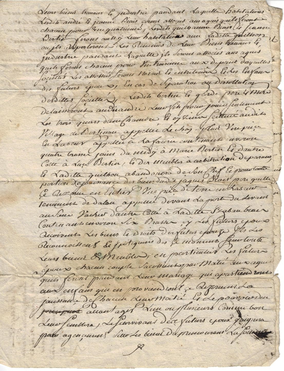 Parchment attesting to the origins of Vignobles Bertin (3)